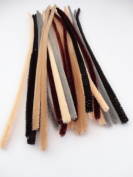"""25 Or 50 Chenille Craft Pipe Cleaners Stems 12"""" / 30cm Multicultural Animal Hair - Pack Size"""