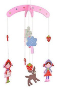 Gisela Graham Wooden Mobile - Strawberry Patch