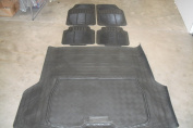 VOLVO XC60 (2008 on) HEAVY DUTY RUBBER MATS + HEAVY DUTY RUBBER BOOT TRUNK LINER MAT NON SLIP