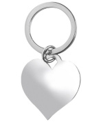 Heart key ring. British silver-plate. Perfect for Mothers Day.
