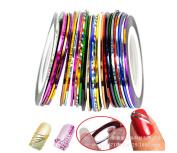 LyDia 12pcs Mixed Colours Pretty Rolls Striping Tape Line Nail Art Decoration Sticker