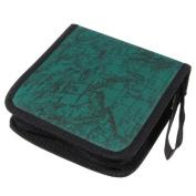 TOOGOO(R) 40 Disc Fashion Map CD DVD Storage Holder Sleeve Case Box Wallet Bag Album Zipper - green