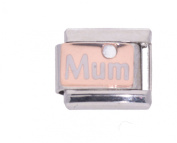 "La Cima Rose Gold and Enamel ""Mum"" - fits Nomination Italian Classic Size Italian Charms"