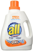 All Ultra Free Clear Oxi Liquid Laundry Detergent, 2790ml