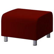 Shopisfy 100% Cotton Replacement Slipcover for Ikea Klippan Footstool with Hook and loop Fitting, Wine