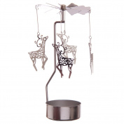Reindeer Design Metal Tealight Spinner