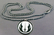 Enamelled Metal Pendant Starwars Jedi Warrior Logo Symbol