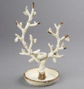 Sass & Belle Boudoir Tree Bird Nest Jewellery Holder, Cream