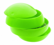 Spirella Bowl Shiny ABS Beauty Tidy Box, Kiwi