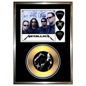 METALLICA (2) - Signed Framed Gold Disc Display Cd