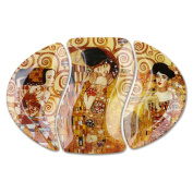 Oval Glass Plate with Gustav Klimt paintings 38.5x26.5cm