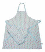 Ladies Apron & Oven Glove Set In Forever England Martha Rose Floral Print