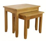 Nebraska Oak - Nest Of Tables / Nesting Set of 2 Side Tables / Living Room Furniture