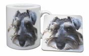 Schnauzer Dog Mug and Table Coaster, Ref:AD-S68MC