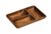 Premier Housewares 3-Section Serving Dish - Acacia Wood