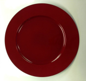 Premier Decorations Red Acrylic Charger Plates Christmas