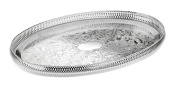 Silver Plated Serving Tray British Made with special tarnish resistant finish that never needs polishing