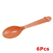 Plastic Willy Spoon - Pack of 6