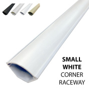 Small Corner Duct Cable Raceway (1075 Series) - 1.5m - White - 5 Sticks