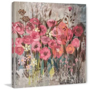 Marmont Hill Floral Frenzy Pink I Painting Print on Canvas, 48 x 48