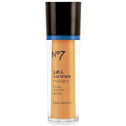 Boots No7 Lift & Luminate Foundation Deeply Honey by Boots