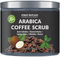 100% Natural Arabica Coffee Scrub 260ml with Organic Coffee, Coconut and Shea Butter - Best Acne, Anti Cellulite and Stretch Mark treatment, Spider Vein Therapy for Varicose Veins & Eczema