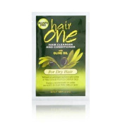 Hair One Cleanser and Conditioner with Olive Oil for Dry Hair .17980ml Packettes