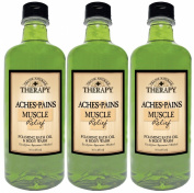 Village Naturals Therapy Aches and Pains Muscle Relief Foaming Bath Oil and Body Wash 470ml