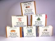 Jonathan Kent Goats Milk Soap Bars - GRANDMA'S KITCHEN 6 Pack Sampler - Saturated with Farm Fresh 100% Creamy Goats Milk, NO WATER, Wild Black Raspberry Vanilla, Peppermint Vanilla, Fig/Pomegranate with Brown Sugar, Wild Blueberry, Pumpkin Pie, and Nor ..