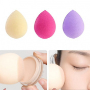 Malloom 3PCS Pro Beauty Flawless Makeup Foundation Puff Water Droplets Sponge