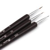CHOP MALL® Nail Art Brushes- Professional Nail Art Brushes- Sable Nail Art Brush Pen, Detailer, Liner **Set of 3