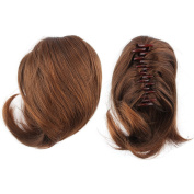 Yosoo Clip In Ponytail Pony Tail Hair Extension Claw On Hair Piece Straight