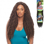Janet Collection Noir 2X Havana Twist Mambo Twist 60cm Braid-4 Packs Deal (4) #MED BLACK