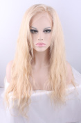 Luffy Wig Virgin Human Hair Lace Front Wig 130% Density Free Part Colour #613 Blonde with Transparent Lace Wigs