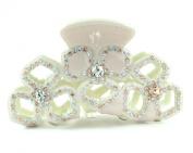 Art Deco Austrian Rhinestone Hair Clamp Claw Clip Barrette Bun Gift C12010g