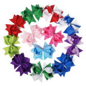Mike & Mary® Girls Boutique Hair Bows Large 13cm with Alligator Clips Hair Barrettes accessories for Teens Girls