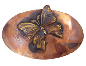 American-Made Rustic Copper Hair Barrette with French-Made Clip