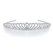DoubleAccent Hair Jewellery Beautiful Rhinestone Princess Tiara Clear Colour