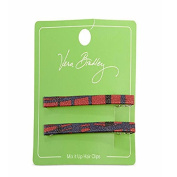 Verabradley Mix It Up Hair Clips In Navy/red Art Plaid, 14982-335