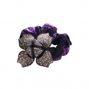 Twinkle® Hair Accessories - Crystal Scrunchies - Four Leaves X 1