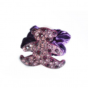 Twinkle® Hair Accessories - Crystal Scrunchies - Bear X1
