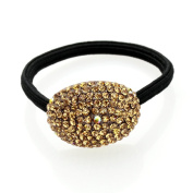 Simulated Crystal Oval Hair Ponytail Holder