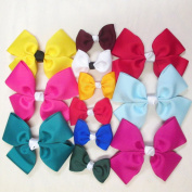 Custom Hair Bows, Assortment of 12, Batch U3, Made in the USA