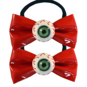 Kawaii Eyeball Hair Bow Bands Red By Kreepsville 666