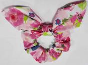 Flower Print Bow Scrunchie.