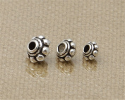 Luoyi Tibetan Style Sterling Silver Barrel Bead Spacers (G012K)