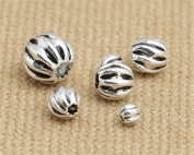 Luoyi Watermelon Round Sterling Silver Spacer Beads Fit DIY Jewellery (G006K) (B