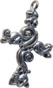 RaanPahMuang Triquetra Knot Mould Christian Celtic Stainless Steel Pendant Charm