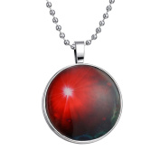 ZARABE Luminous Glowing Glow In The Dark Stone Pendant Universe Necklace