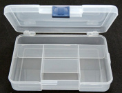 STORAGE organiser CONTAINER COMPACT TRAVEL 5 COMPARTMENT BEAD PILL SMALL PARTS